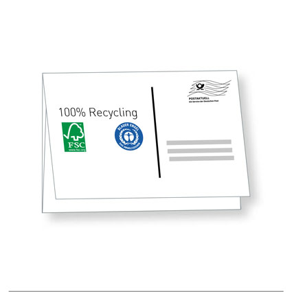 Recycling Selfmailer DIN A6